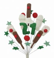 Cricket 21st birthday cake topper decoration - free postage
